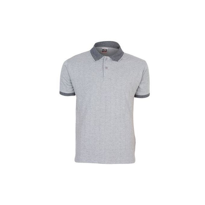 8fe0a4bc30d Grey Men s T-Shirt With Checked Collar